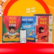 Combo 2 sách Hack Não 1500 + Hack Não Ngữ Pháp – Tặng App Hack Não Pro học phát âm và ngữ pháp, làm chủ từ vựng và nắm chắc ngữ pháp tiếng Anh chỉ sau 2 tháng (Step Up English)