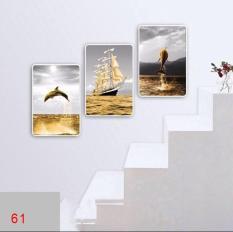 tranh treo tường 3D hiện đại 02/ Gỗ Hàn Quốc phủ melalin – chịu nước chống muối mọt/Khổ 40x60x3 tấm