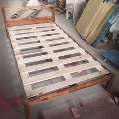 Giường ngủ gỗ tự nhiên 1m1x2m, mẫu xuất khẩu Hàn Quốc