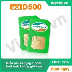 Sim 4G Viettel D500 Trọn gói 1 năm không cần nạp tiền điện thoại .Lướt web thaga viettelvn.