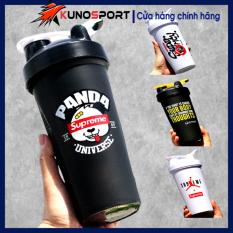 Bình Nước Thể Thao Tập Gym KUNOSPORT Dung Tích 600ML Có Tắc Lắc Lò So