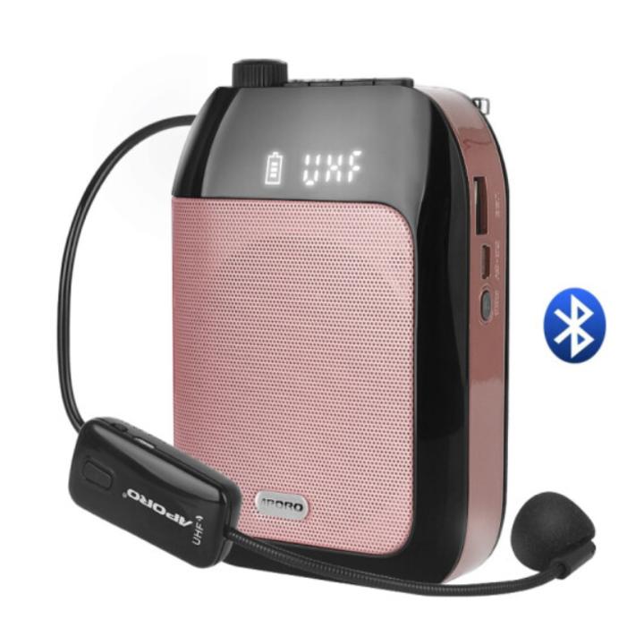 Máy trợ giảng không dây cao cấp Aporo T20, tích hợp Bluetooth UHF Wireless – Bảo hành 12 tháng