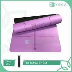 Thảm Tập Yoga Định Tuyến Hebeyoga Pu Cao Su 5mm Cao Cấp Kèm Túi