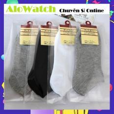 [Giá Sỉ] Combo 10 Tất Vớ Trơn Cotton Giá Rẻ ALOWATCH ( Nhiều Màu )