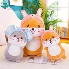 Chuột bông Hamster cosplay 2 màu xám- vàng