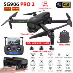 (NEW 2020)TẶNG KÈM BALO – Máy bay Flycam ZLRC SG906 Pro 2 camera 4k, gimbal chống rung 3 trục, Bay xa 1200m, Thời gian bay max 26 phút, Hai camera kép, GPS Camera Wifi 5G – BẢO HÀNH 6 THÁNG