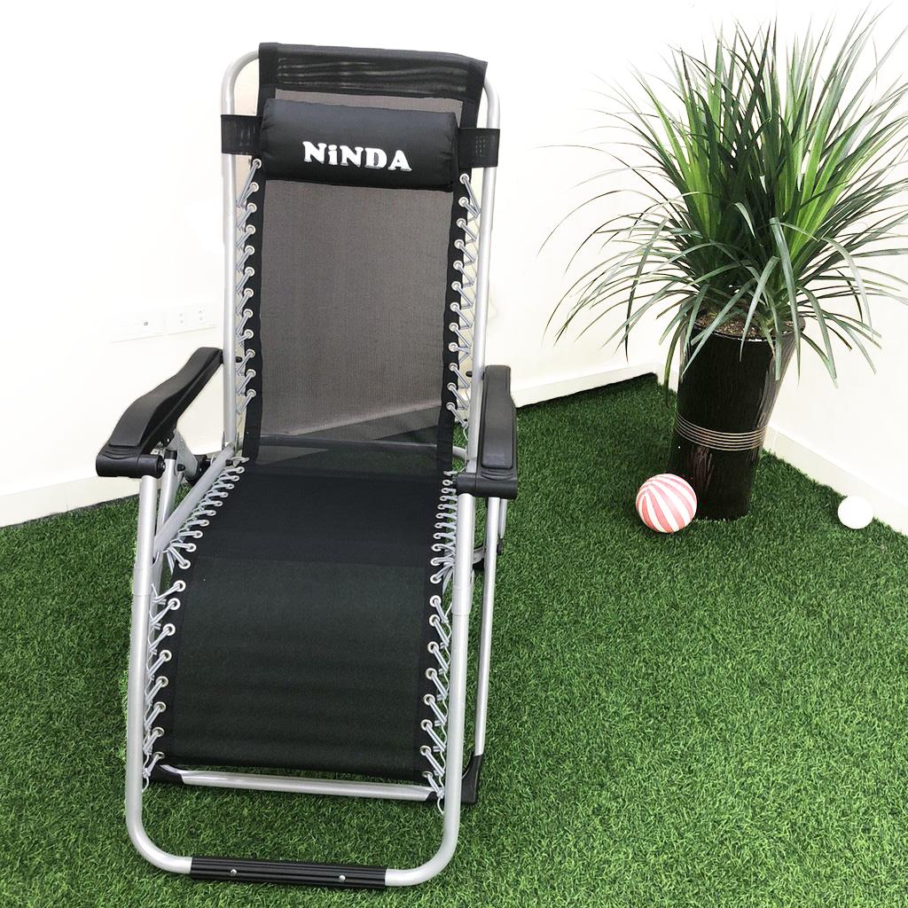 (Bảo Hành 1 năm) Ghế xếp thư giãn NinDa NDG830 gấp gọn , Ghế xếp du lịch có tay vịn , Ghế tựa lưng , ghế gaming , ghế lười