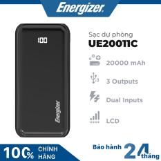 Sạc dự phòng Energizer 20000mAh có màn hình LED tích hợp 3 cổng outputs và 2 cổng inputs – UE20011C