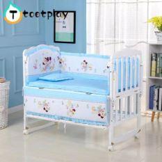 drap nệm cho cũi em bé 5 món/Giường Cũi Ốp Lưng Trẻ Sơ Sinh Giường cho Trẻ Sơ Sinh Hàng Rào với Phim Hoạt Hình Động Vật