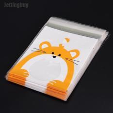 Jettingbuy 100 túi đựng kẹo miệng có keo dán in hình động vật cực dễ thương – INTL