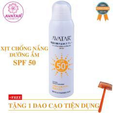 Xịt chống nắng dưỡng ẩm SPF 50 chính hãng – kem chống nắng dạng phun dưỡng ẩm AVATAR SPF 50- xịt dưỡng ẩm chống nắng AVATAR PF 50 cao cấp
