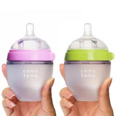 Bình sữa cho bé Comotomo 150ml chính hãng – chất liệu silicon y tế – minso kids