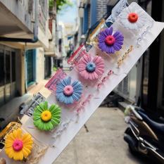 Kẹp càng cua (gấp tóc) 5 răng trong suốt hoa cúc hoa mi xinh xắn Phụ Kiện 68 (tùy chọn màu)