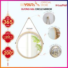 Gương Tròn Treo Tường BEYOURs Khung Gỗ – Mia-Circle-Mirror – Nội Thất Kiểu Hàn