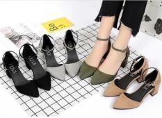 giày cao gót bít mũi nhung 5p