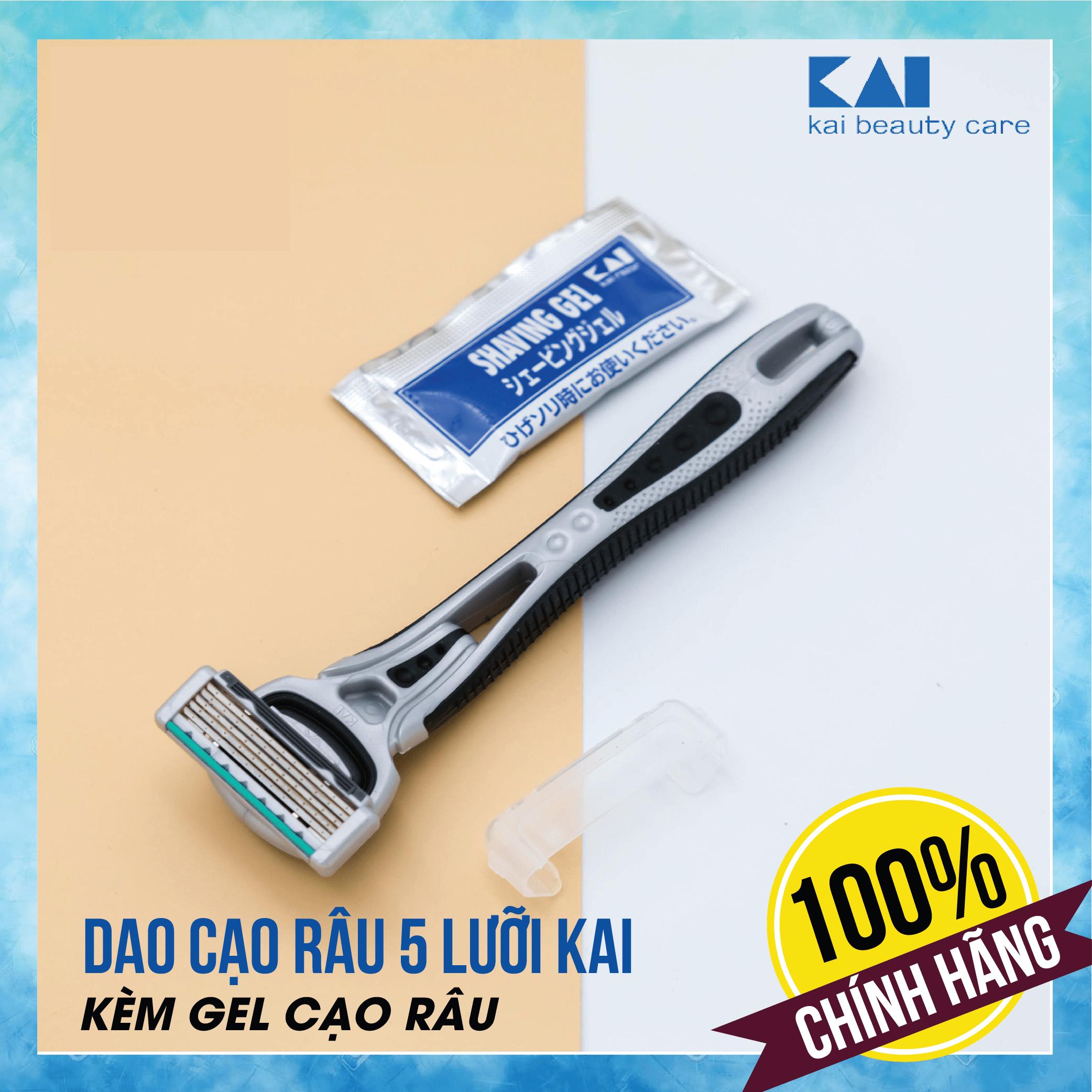 Dao cạo râu cao cấp Nhật 5 lưỡi KAI Ifit (kèm gel cạo râu)