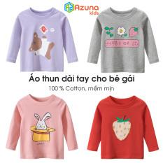 Áo thun dài tay bé gái 27Home Áo cho trẻ họa tiết dễ thương chất cotton hàng xuất khẩu