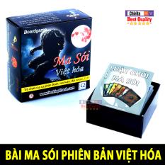 Trò Chơi Boardgame Ma Sói Bản Việt Hóa Giấy Cứng Cao Cấp – Bộ Bài Ma Sói Việt Hóa Bản Chuẩn Đẹp