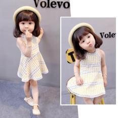 Váy đầm hè xuất Hàn cổ yếm cho bé yêu