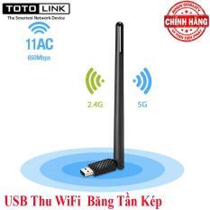 USB Thu WiFi Băng Tần Kép 5Ghz và 2.4Ghz – TotoLink A650UA ( Chuẩn MU-MIMO / AC650 ) tốc độ 650Mbps