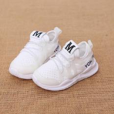 giày sneaker thể thao cho bé trai – bé gái chữ M