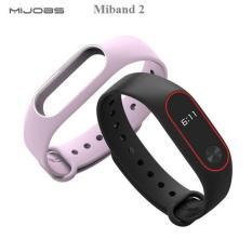 Vòng đeo tay thay thế cho Xiaomi Miband 2 , mi band 2 – Đen viền đỏ