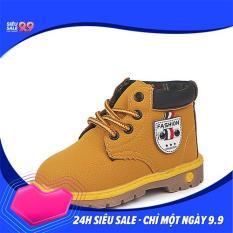 Giày boot cổ cao đế kếp cho bé trai (Ảnh shop tự chụp)