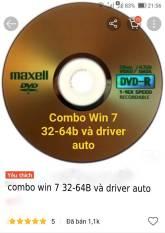 combo đĩa cài win 7 và đĩa driver auto win 7 32b và 64b
