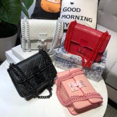 Túi xách có dây đeo cùng màu/ví đeo chéo nữ/đinh nạm DR013.