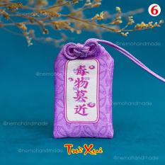 Túi Phước May Mắn Omamori Nemo Handmade, tặng Túi Bảo Vệ, Đá Phong Thủy, Giấy Ước Nguyện, Túi Hoa Thơm – OM14M