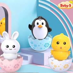 [HCM]Lật đật cho bé hình thú hoạt hình ngộ nghĩnh đáng yêu hình gà con thỏ trắng và chim cánh cụt Baby-S – SDC041