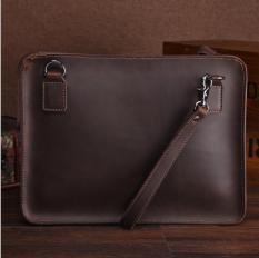 EuroHome Túi đựng macbook cầm tay da bò Retro Leather 14inch (Dark Brown)