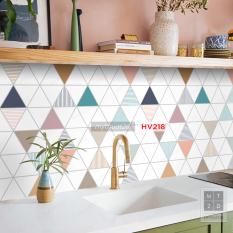 Cuộn 2 mét dài Decal gạch bông dán bếp, dán tường, decor nhà cửa – mã HV218