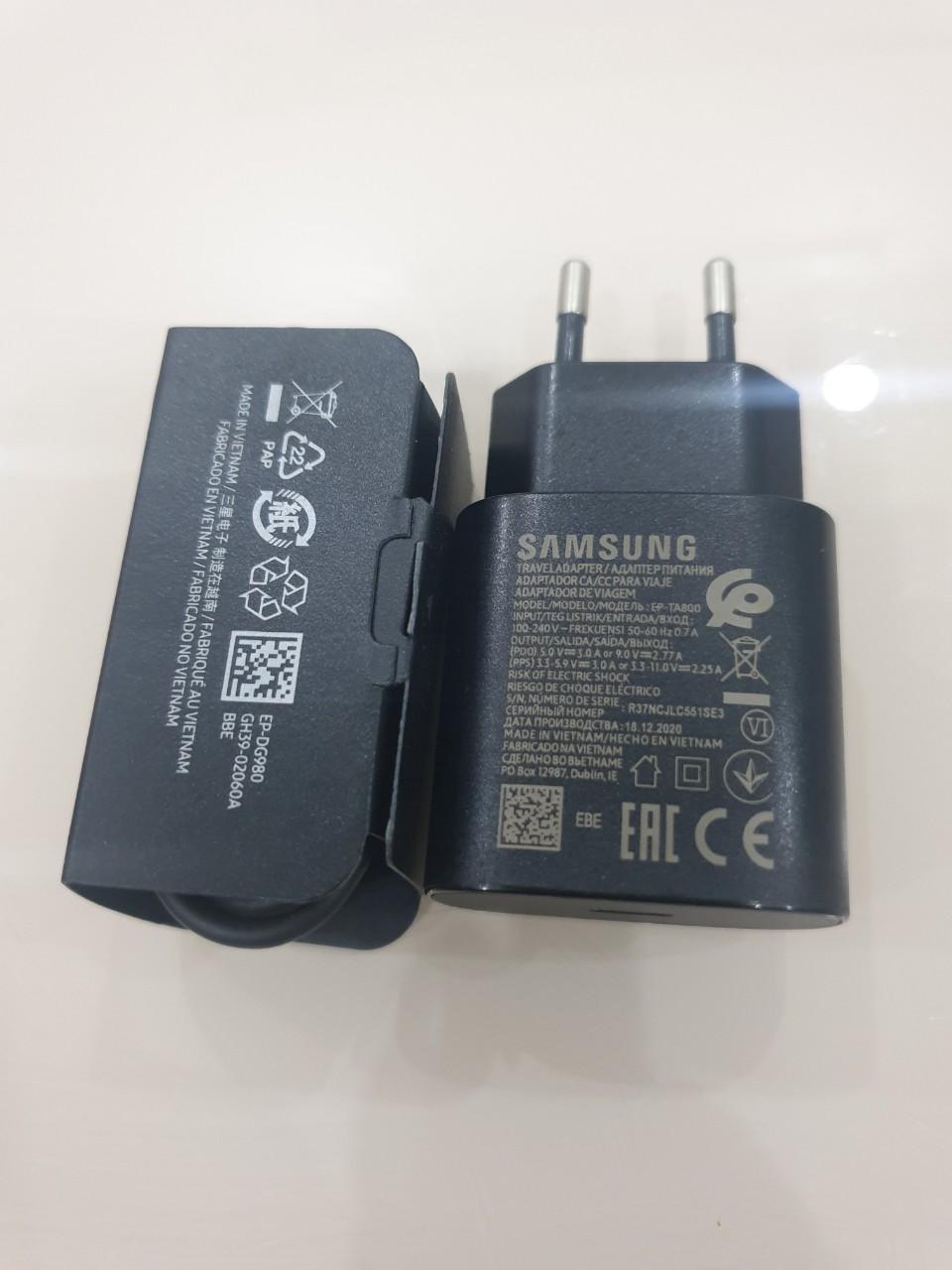 Củ Sạc Nhanh 25w Superfast Charger SamSung Note 10/S10/Note 20/S20/S20 Ultra/S21 Chính hãng (Kèm dây sạc đồng bộ)