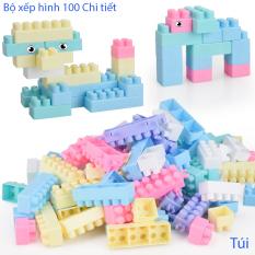 Bộ đồ chơi xếp hình 100 chi tiết – Đồ chơi phát triển trí tuệ trẻ, kích thích sáng tạo cho bé