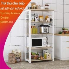 Kệ nhà bếp giá nhà bếp kệ gỗ giá gỗ 5 tầng thu gọn nhà bếp, phòng ngủ, phòng khách, kệ để lò vi sóng, giá để bát đĩa giá để nồi niêu