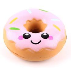 Squishy bánh donus màu hồng – đồ chơi squishy xả stress
