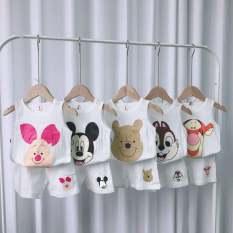 combo 5 bộ sát nách vải cotton giấy trắng cho bé 4-14kg