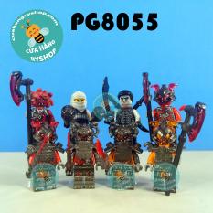 Non Lego – Set 8 nhân vật đội quân Vermillion trong Ninjago – PG8055 POGO