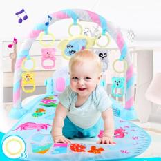 [HCM]Thảm nhạc cho bé sơ sinh trai và gái có đàn piano vui nhộn và móc treo hình thú ngộ nghĩnh BBShine – DC038