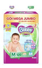 [FREESHIP 20K ĐƠN 300K] Tã/bỉm quần Bobby siêu thấm khô thoáng Mega Jumbo M120 – Lõi nén thần kì 3mm