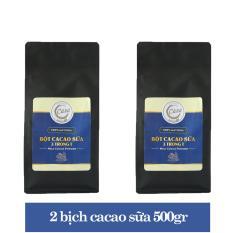 Combo 2 túi cacao sữa 3 trong 1 thơm ngon 500gr