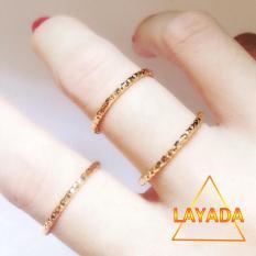 Nhẫn Đồng non mạ vàng 18k siêu bền ( Không Đen ) – LAYADA