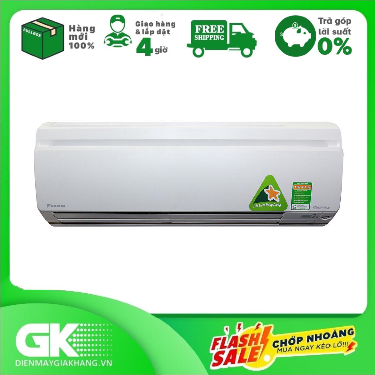 TRẢ GÓP 0% – Máy lạnh Daikin Inverter 1HP FTKS25GVMV/RKS25GVM ,nhãn năng lượng tiết kiệm điện 5 sao, tiết kiệm điện, Kháng khuẩn khử mùi – BTRẢo hành 12 tháng