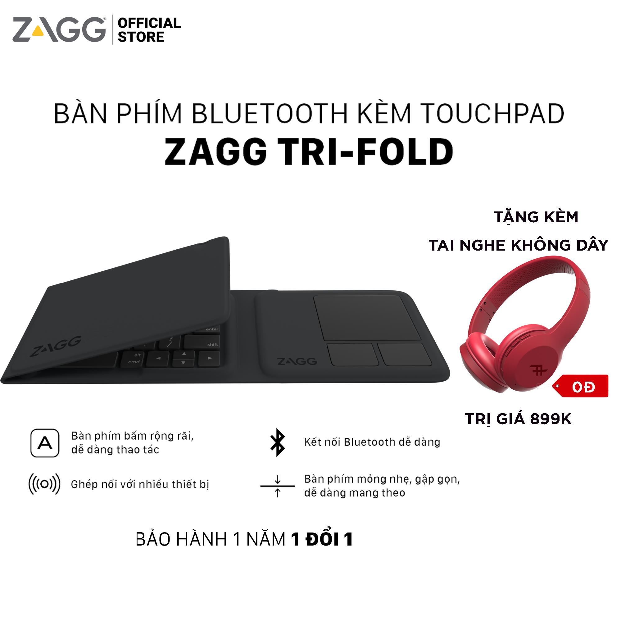 Bàn phím gấp 3 ZAGG Universal Keyboards – Tri Folding 103203612