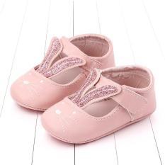 Giày búp bê tai thỏ đế cao su chống trượt cho bé(12cm)(6-15 tháng)