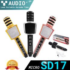 Micro Hát Karaoke Bluetooth SD-17, Mic Kiêm Loa, dung lượng lớn Âm Vang Ấm- Mic Hát Karaoke Cầm Tay Mini Micro Hát Trên Xe Hơi, Mic Không Dây Thế Hệ Mới giá rẻ