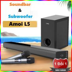Trọn bộ Loa thanh soundbar tivi bluetooth Amoi L5 + Loa siêu trầm 6.5 inch