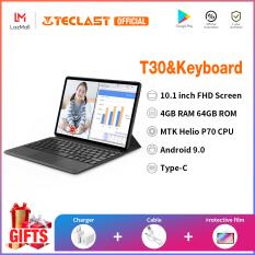 [Teclast Official] Máy tính bảng T30/ Màn hình 2K FHD 10.1 inch với độ phân giải 1920×1200/ Hệ điều hành Google Android 9.0 / Điện thoại di động sim 4G LTE/ CPU MTK Helio P70 8 nhân/ 4GB + 64GB / Dung lượng pin 8000mAh/ WiFi băng tần kép