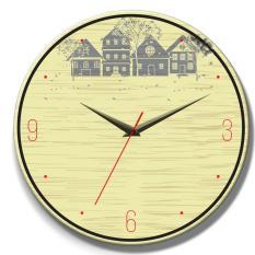 Đồng hồ tranh gỗ tròn R0127